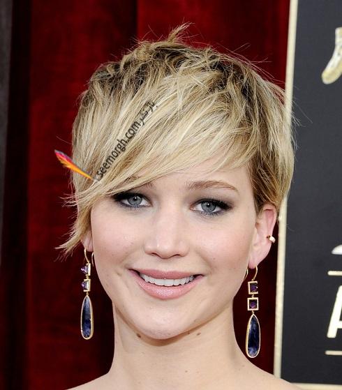 مدل مو جنيفر لارنس Jennifer Lawrence در سال 2014 - مدل شماره 8