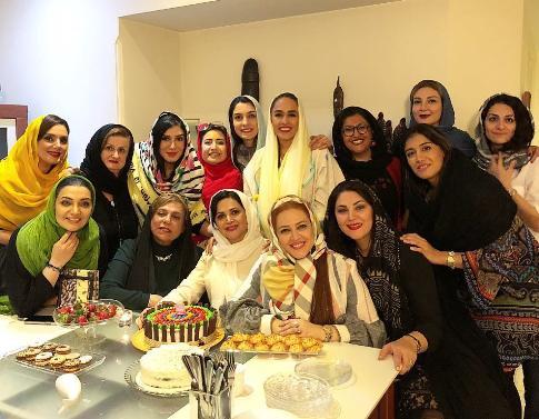 بازیگران در جشن تولد کمند امیرسلیمانی