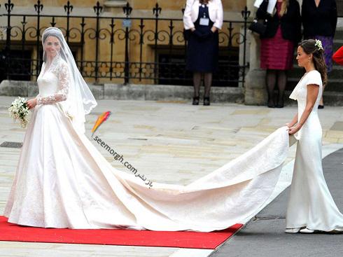 کیت میدلتون,لباس عروس,مدل لباس عروس,لباس عروس رز لزلی