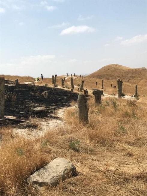 آتش سوزی در قبرستان خالد نبی