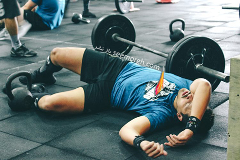 ورزشکار خسته,مرد خسته