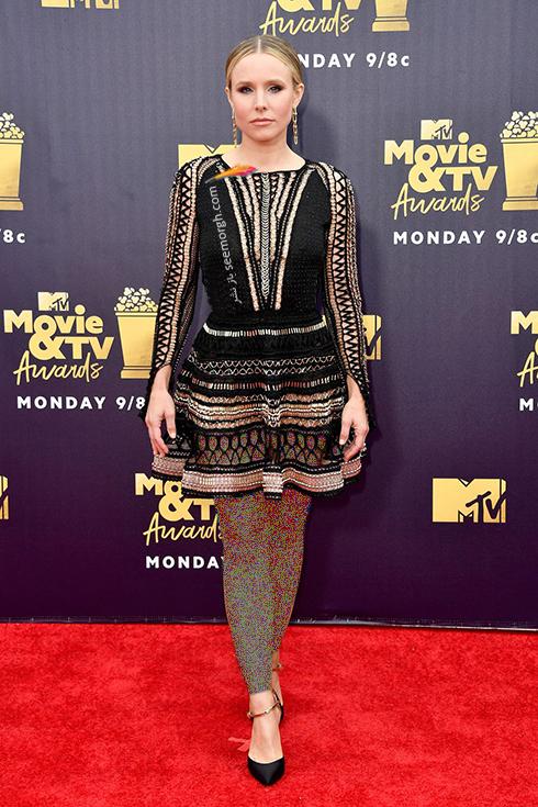 مدل لباس در MTV Awards 2018 - کریستین بل Kristen Bell