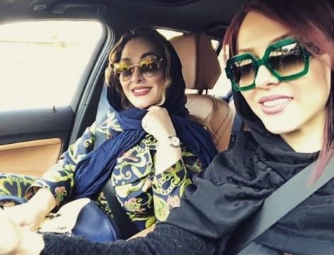 لیلا اوتادی و الهام حمیدی در کنار یکدیگر