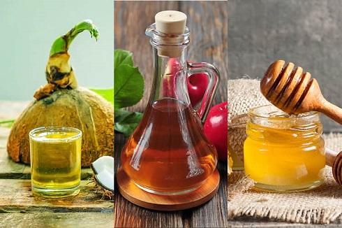 روشن کردن مو با ترکیب عسل، روغن نارگیل و سرکه