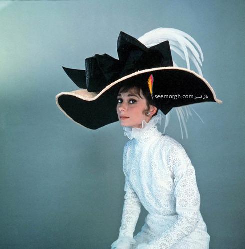 آدری هپبورن،مدل کلاه آدری هپبورن،کلاه آدری هپبورن Audrey Hepburn در فیلم سینمایی Fairy Lady در سال 1964