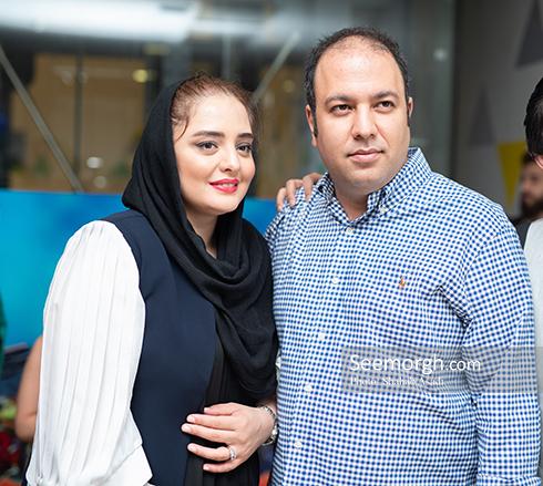 علی اوجی و نرگس محمدی در اکران مردمی دشمن زن