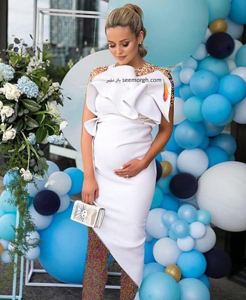 لباس بارداری به رنگ سفید