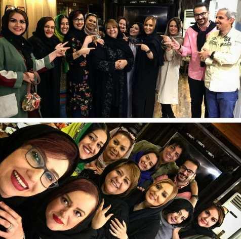 بازیگران در جشن تولد رابعه اسکویی