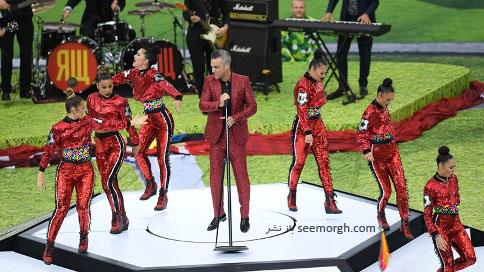 اجرای رابی ویلیامز در مراسم افتتاحیه جام جهانی 2018