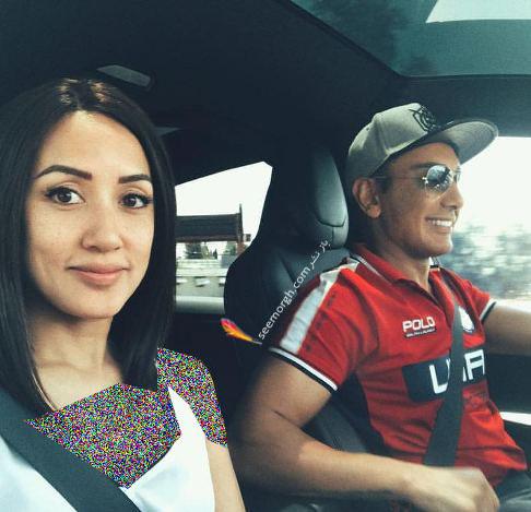 شادمهر عقيلي و همسرش