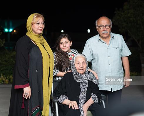 زهرا داوودنژاد به همراه خانواده اش در اکران سهیلا شماره 17