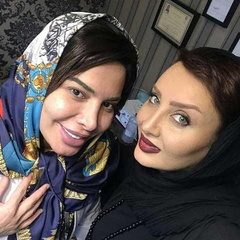 سولماز حصاری در کنار دکتر تغذیه و زیبایی اش