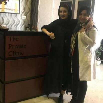 عکس سولماز حصاری در کنار دکترش