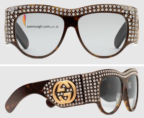 مدل عینک آفتابی زنانه 2018 گوچی Gucci - عکس شماره 13