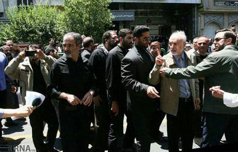 شعارهای تند علیه صالحی در روز قدس و واکنش وی به معترضان+تصویر