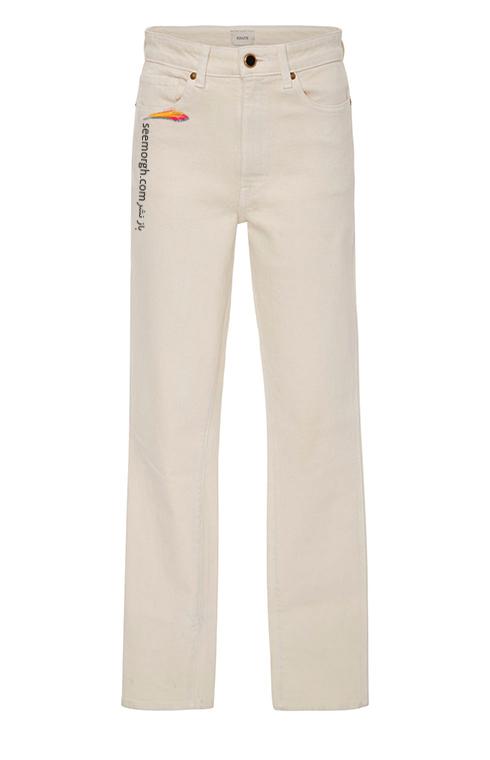 شلوار جین سفید کلاسیک