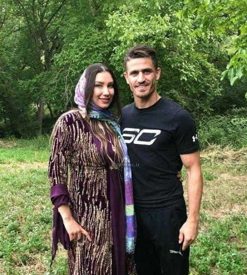 وريا غفوري و همسرش