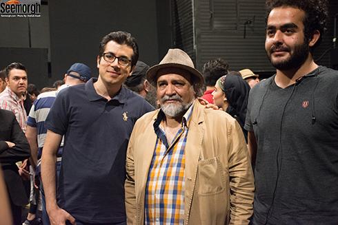 حضور محمدرضا شریفی نیا در جمع تماشاگران نمایش چلچلا
