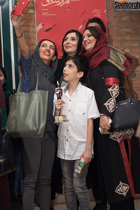 الهام پاوه نژاد در پانزدهمین جشن کانون ملی تئاتر