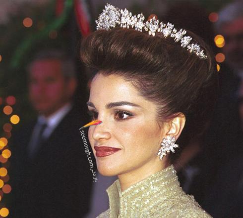 مدل مو ملکه رانیا Rania از اردن در سال 1999
