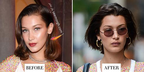 مدل مو جدید بلا حدید Bella Hadid