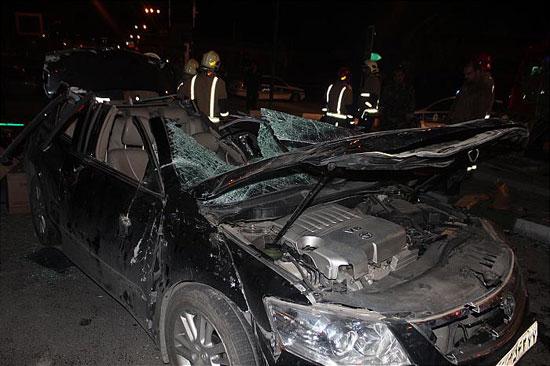 واژگونی مرگبار تویوتا در بلوار ارتش +عکس
