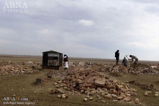 قبرستانی که داعش تخریب کرد +عکس
