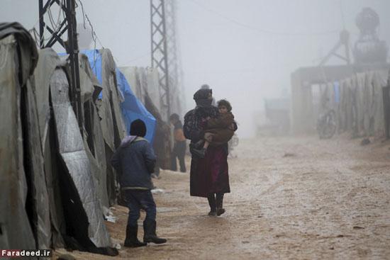 کودکان آواره سوری در برف و سرما+ عکس