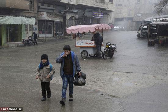 عکس: کودکان آواره سوری و برف و سرما