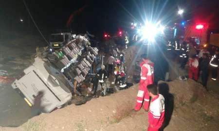 افزایش تعداد جان باختگان واژگونی اتوبوس در جاده سبزوار- شاهرود
