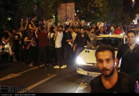 حضور هواداران نامزدها، خیابان های شمالی تهران را قفل کرد