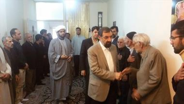 دیدار دکتر محسن رضایی با خانواده پاسدار شهید حادثه تروریستی