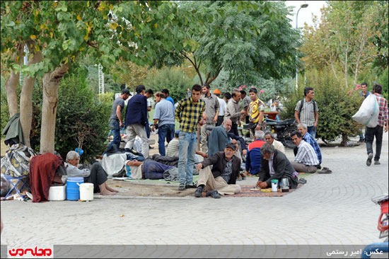 عکس: خیابان هرندی تیری در قلب تهران