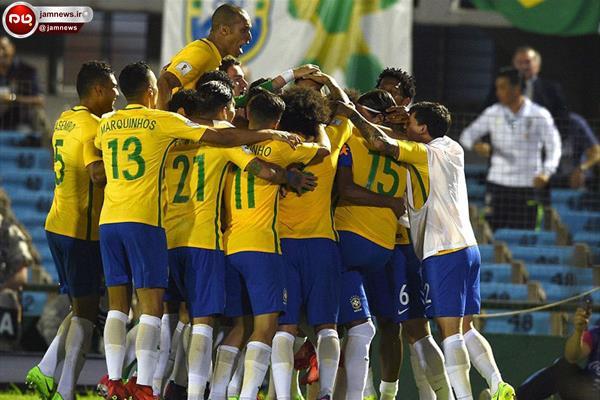 برزیل اولین و ایران دومین تیم صعودکننده به جام جهانی 2018