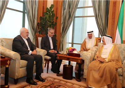 تصاویر دیدار ظریف با امیر کویت