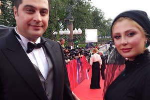 عکس های نیوشا ضیغمی و همسرش در فستیوال مسکو!