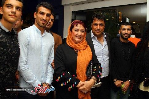 هنرمندن و ورزشکاران در افتتاحیه فروشگاه جدید علی دایی