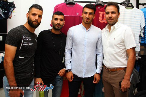 ورزشکاران در افتتاحیه فروشگاه جدید علی دایی