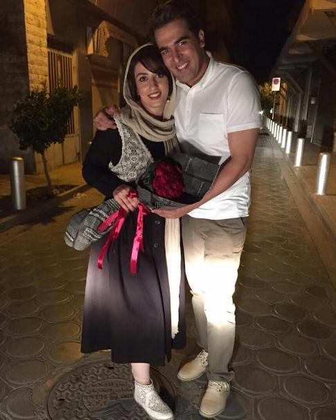 عکس الهام طهموری و همسرش