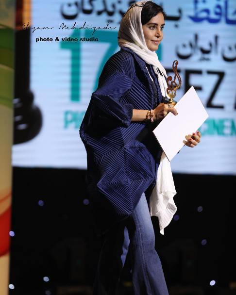 مدل مانتو الناز شاکردوست در جشن حافظ