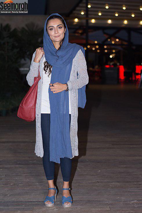 مدل مانتو السا فیروزآذر در اکران خصوصی فصل نرگس