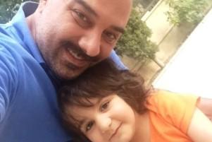 عکس های برزو ارجمند و همسر و فرزندش