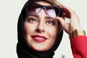 عکس هنری سمانه پاکدل کنار دریا به کمک شال و روسری اش!