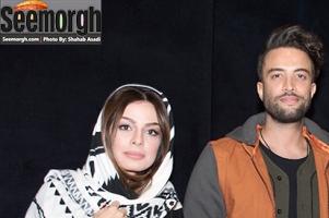 عکس های بنیامین بهادری و همسرش شایلی در اکران سلام بمبئی