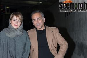 حمیدرضا آذرنگ و همسرش در اکران فیلم گیتا