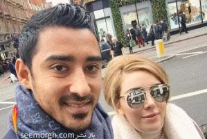 عکس رضا قوچان نژاد و همسرش سروین بیات در بارسلون