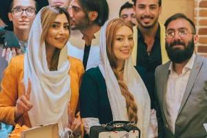 تیپ و چهره سحر قریشی و الهام عرب در مراسمی کنار یکدیگر! عکس
