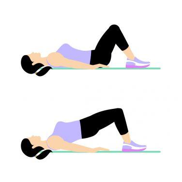 بزرگ کردن باسن,تمریناتی برای بزرگ کردن باسن,روش های بزرگ کردن باسن,راه های بزرگ کردن باسن,حرکت Hip Bridge برای تقویت عضلات باسن