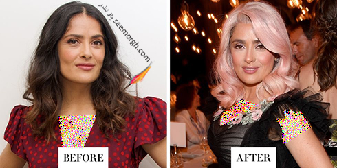 مدل مو جدید سلما هایک Salma Hayk
