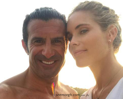 عکس جدید لوئیس فیگو و همسرش